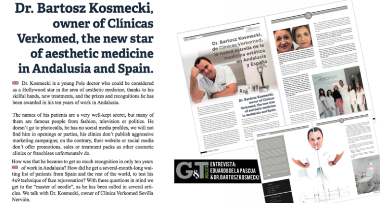 Dr. Bartosz Kosmecki, owner of Clínicas  Verkomed, the new star of aesthetic medicine in Andalusia and Spain. Entrevista de Eduardo de la Pascua al Dr. Kosmecki Revista T&G